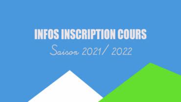 INSCRIPTIONS COURS JEUNES /ADULTES 2021/2022