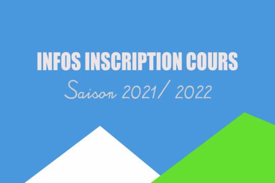 PERMANENCE INSCRIPTION COURS SAISON 2021 / 2022